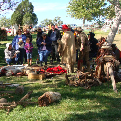 Trappers at Frontier History Encampment