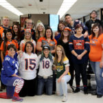 Cosmetology & Barber during their NFL Kick-off day at the LCC Salon, Fall 2018