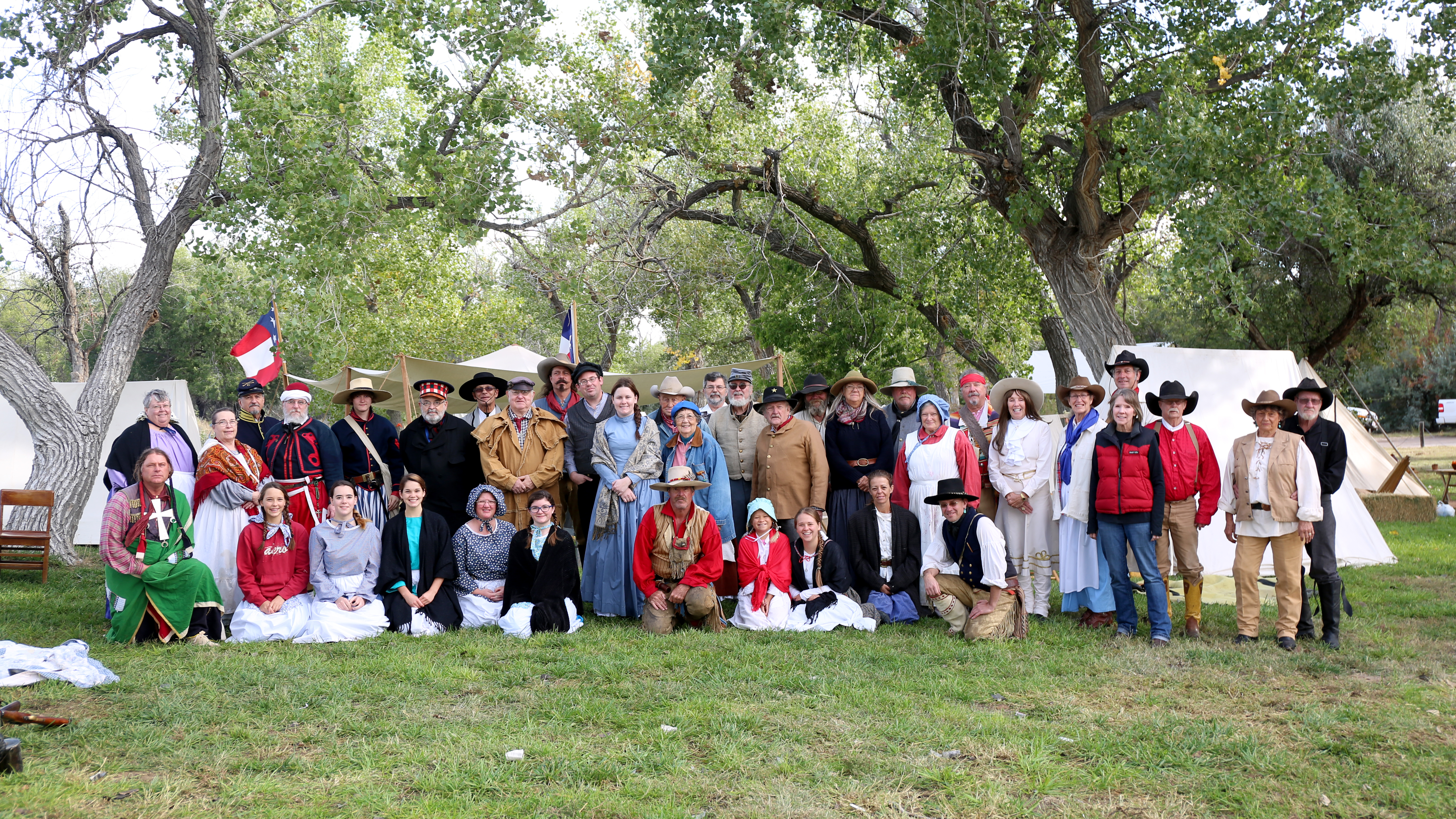 Historic interpreters from the 2017 Frontier History Encampment